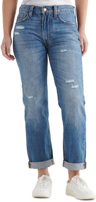 Lucky Brand The Boy Jean Distressed Straight Leg Jeans
