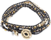 lonna & lilly Gold-Tone and Cord Beaded Logo Wrap Bracelet