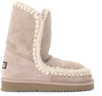 Mou Eskimo 24 Boot In Warm Gray Double Face Sheepskin