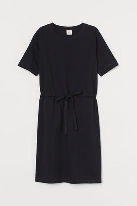 H&M Drawstring T-shirt Dress - Black