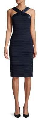 Adrianna Papell Pintuck Jersey Sheath Dress