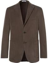 Boglioli Brown Slim-fit Brushed Stretch-cotton Twill Suit Jacket - Brown