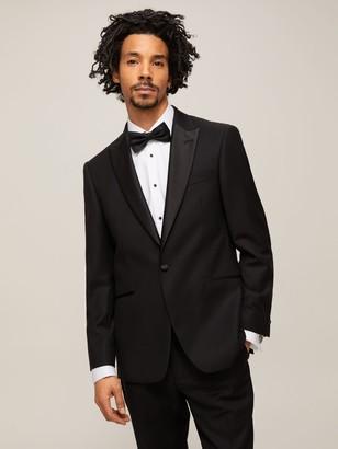 John Lewis & Partners Peak Lapel Basket Weave Dress Suit Jacket, Black