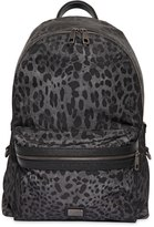 Dolce & Gabbana Leopard Printed Nylon Backpack