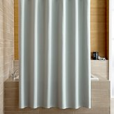 Crate & Barrel Pebble Matelassé Spa Blue Shower Curtain