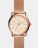 Fossil The Commuter Rose Gold-Tone Analogue Watch