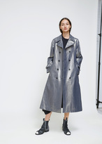 Comme des Garcons Indigo Coated Cotton Denim Trench