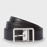 Paul Smith Men's Black Saffiano Leather Cut-To-Fit Reversible Belt