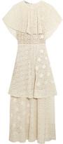Stella McCartney Appliquéd Tiered Cotton-blend Lace Gown - IT44