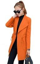 NXL Women's Spring And Autumn Wool Coat Long Coat Coat,-L