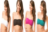 Fashion To Gossip Strapless Lace Stretch Bandeau Tube Bra Top 4 pack L