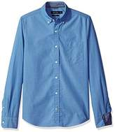 Nautica Men's Long Sleeve Solid Button Down Shirt