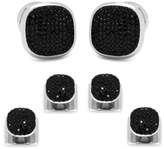 Cufflinks Inc. Men's Cufflinks, Inc. Black Pave Crystal Shirt Studs & Cuff Links