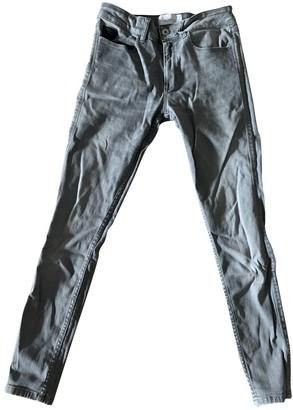 April 77 Grey Cotton - elasthane Jeans for Women