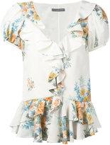 Alexander McQueen floral print blouse - women - Silk - 38