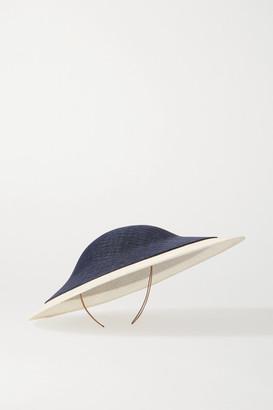 Philip Treacy Two-tone Sinamay Straw Hat - Navy