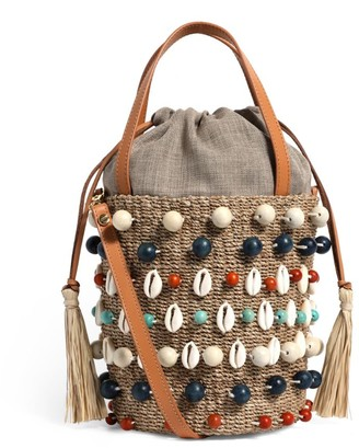 Aranaz Embellished Octo Bucket Bag