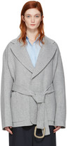 Acne Studios Grey Lilo Doublé Belted Coat