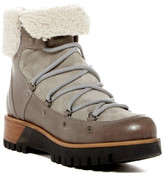Manas Design Genuine Sheepskin Trimmed Short Platform Boot
