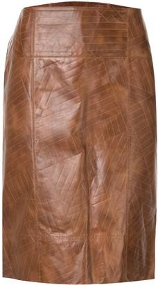 Fendi Pre Owned Straight Skirt