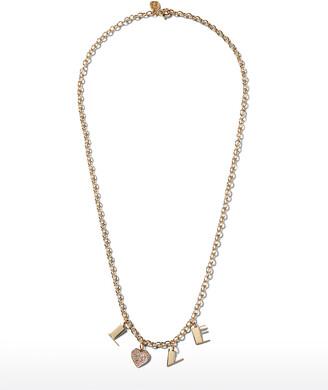 Sydney Evan 14k LOVE Charm Necklace w/ Diamond Heart