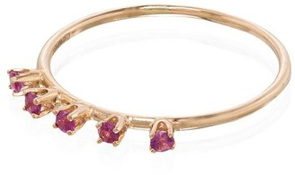 Loren Stewart 18K yellow gold pink sapphire ring