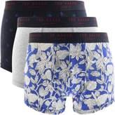 Ted Baker Underwear Triple Pack Boxer Trunks Blue