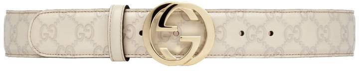 Gucci Leather Belt for Men SIGNATURE (370543-AA61G-9022)