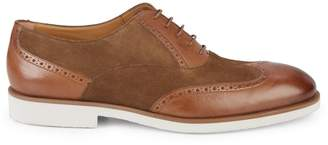 HUGO BOSS Eden Suede & Leather Derbies
