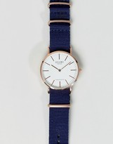 Reclaimed Vintage Inspired Canvas Watch In Blue