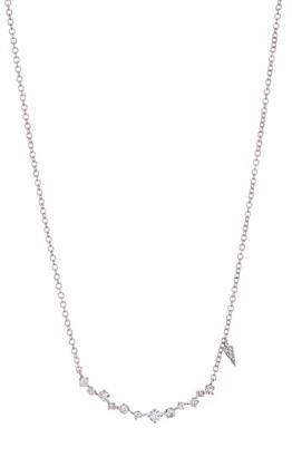 Meira T 14K White Gold Dainty Diamond Necklace