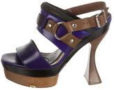 Marni Platform Square-Toe Sandals