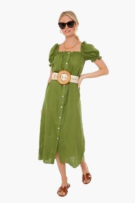 Sleeper Green Brigitte Maxi Dress