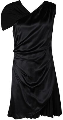 HUGO BOSS Hugo by Black Silk Drape Detail Pleated Kareen Dress M