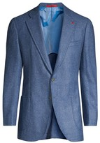 Isaia Classic-Fit Donegal Cashmere Sportcoat