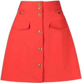 Givenchy buttoned A-line mini skirt