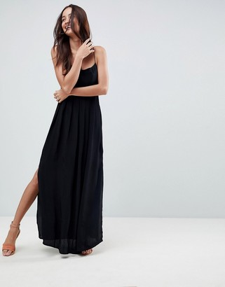 Asos Design ASOS Pleated Smock Maxi Cami Dress