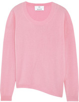 Allude Asymmetric Wool And Cashmere-blend Sweater - Baby pink