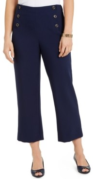 Charter Club Twill Cropped Sailor Pants, Created for Macy's