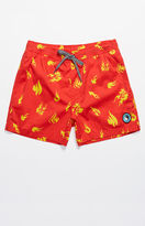 "T&C Surf Designs Larson Flame Print 15"" Swim Trunks"