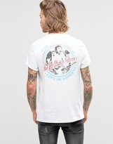 Asos T-Shirt With The Rolling Stones Print And Roll Sleeve