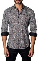 Jared Lang Skull Print Woven Shirt