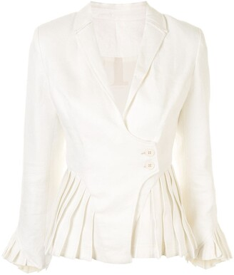 Alexis Pleated Detail Short Blazer