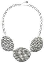 "The Sak Basketweave Texture Frontal Necklace 18"""