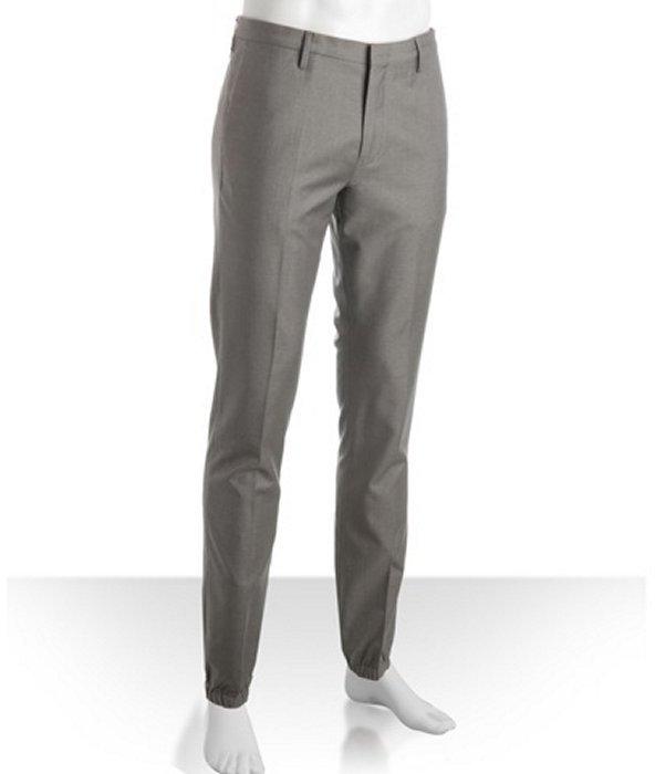 Paul Smith grey wool 'Detailed Jodhpurs' trousers