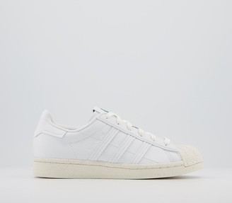 adidas Superstar 'Clean Classics' Trainers White Off White Green Sustainable