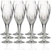 Mikasa Arctic Lights Set of 12 Crystal Wine Glasses
