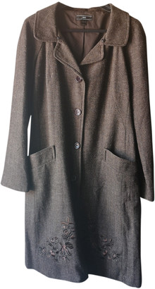 MANGO Brown Wool Coats