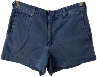 Polo Ralph Lauren Blue Cotton Shorts for Women