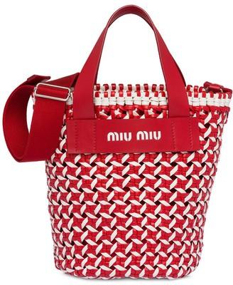 Miu Miu Woven Bucket Bag